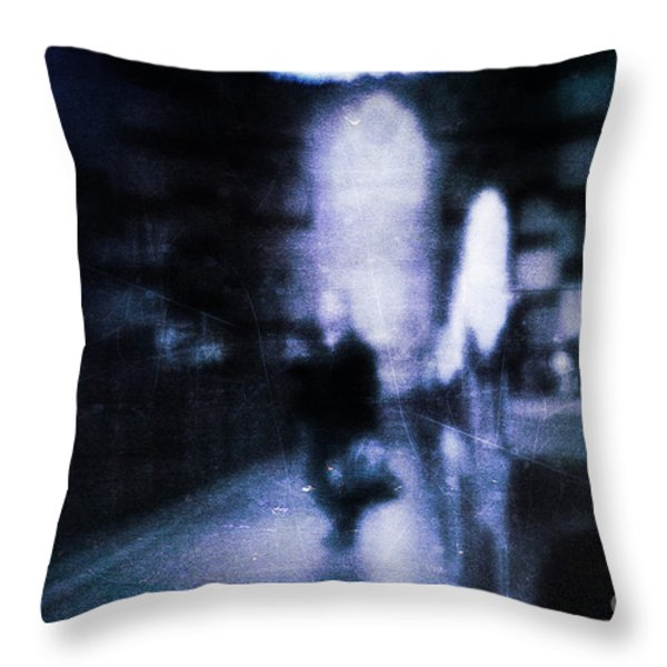 Haunted Throw Pillow by Andrew Paranavitana