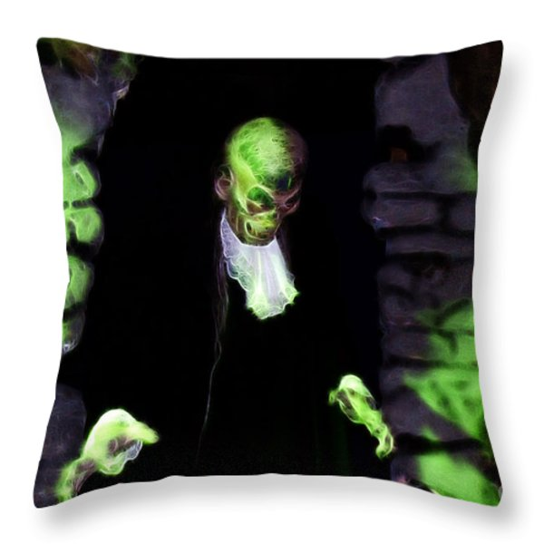 Haunted Butler Throw Pillow by Darleen Stry