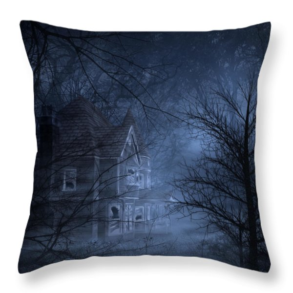 Haunted Place Throw Pillow by Svetlana Sewell