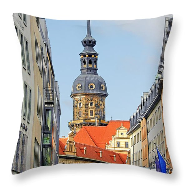 Hausmannsturm - Lookout of a castle with stunning views Throw Pillow by Christine Till