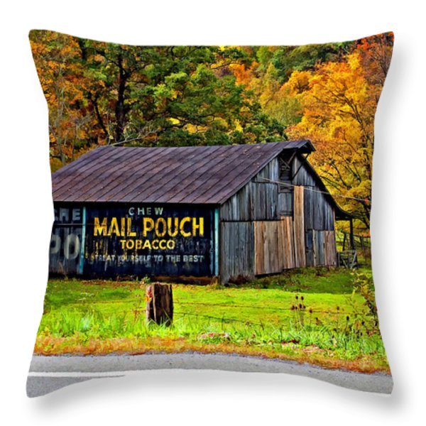 Have a Chaw painted Throw Pillow by Steve Harrington