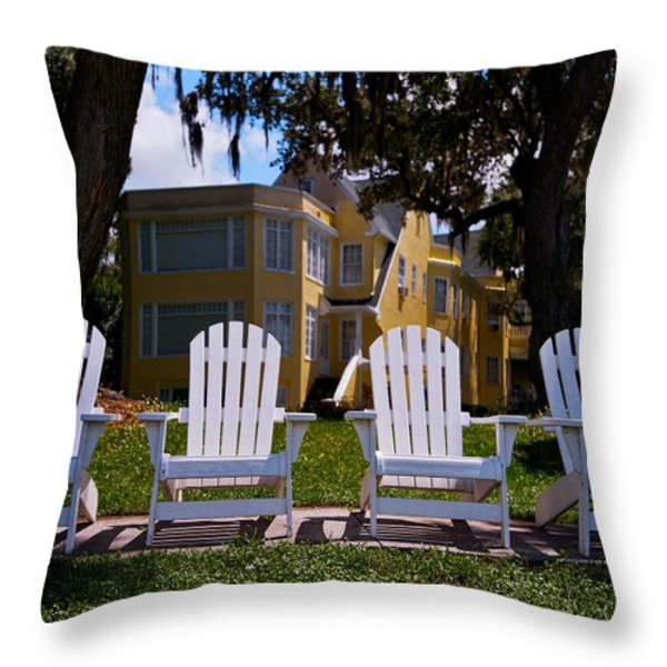 Have A Seat Throw Pillow by Christopher Holmes