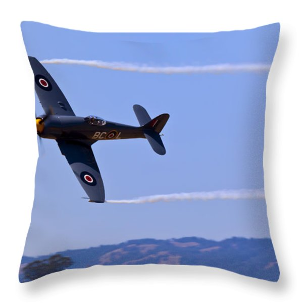 Hawker Sea Fury Throw Pillow by Garry Gay