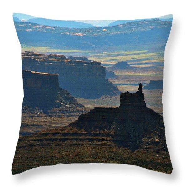 Haze Throw Pillow by Skip Hunt