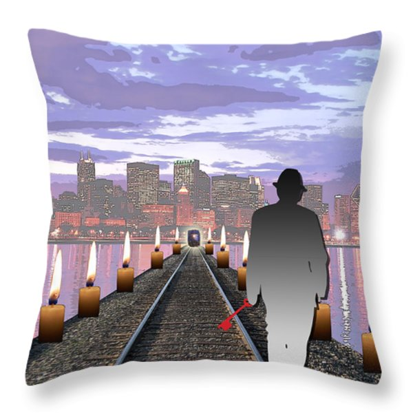 Head On Throw Pillow by Jimi Bush