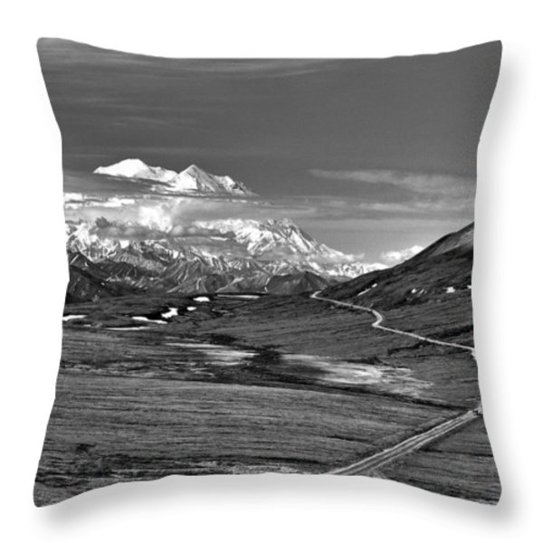 Headed To Mc Kinley D9746 Throw Pillow by Wes and Dotty Weber