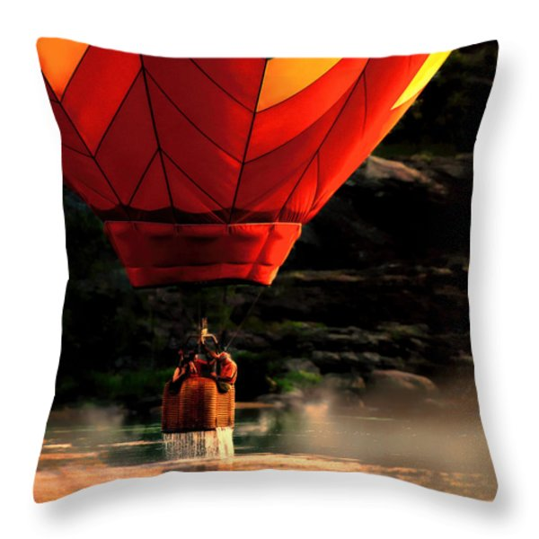 Heading Back Up Throw Pillow by Bob Orsillo
