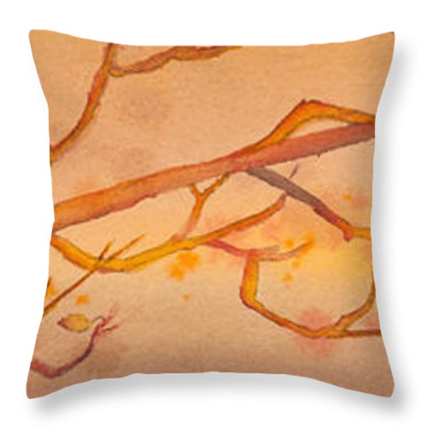 Heading South Watercolor Painting  Throw Pillow by Michelle Wiarda