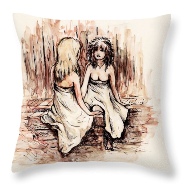 Heart To Heart Throw Pillow by Rachel Christine Nowicki