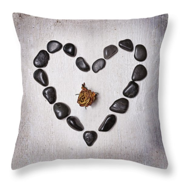 Heart With Rose Throw Pillow by Joana Kruse