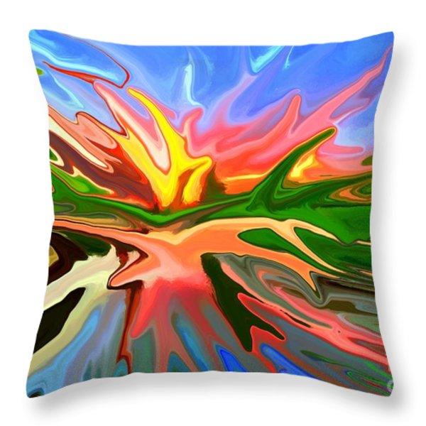 Heat Wave Throw Pillow by Chris Butler