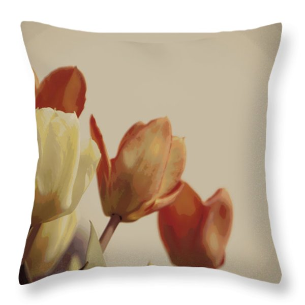 Heavenly Glow Throw Pillow by Marilyn Wilson