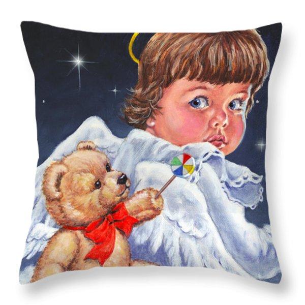 Heavenly Throw Pillow by Richard De Wolfe