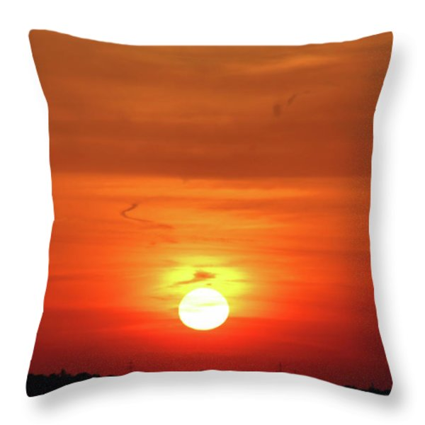 Heavenly Sunset Throw Pillow by Mariola Bitner