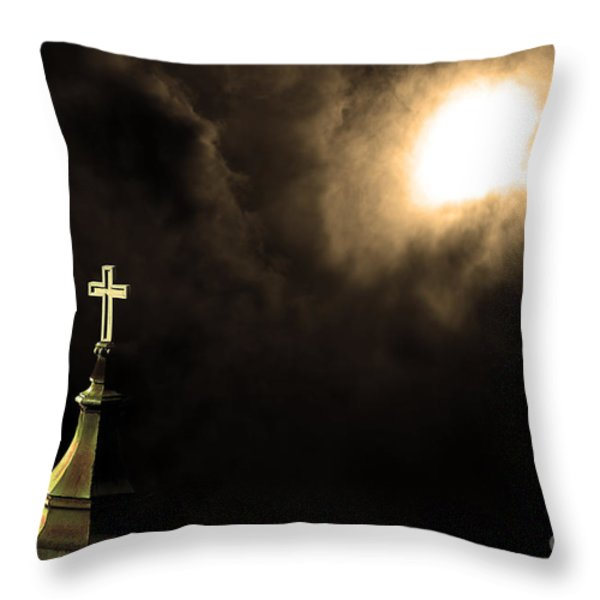 Heaven.s Gate . 7d15002 Throw Pillow by Wingsdomain Art and Photography
