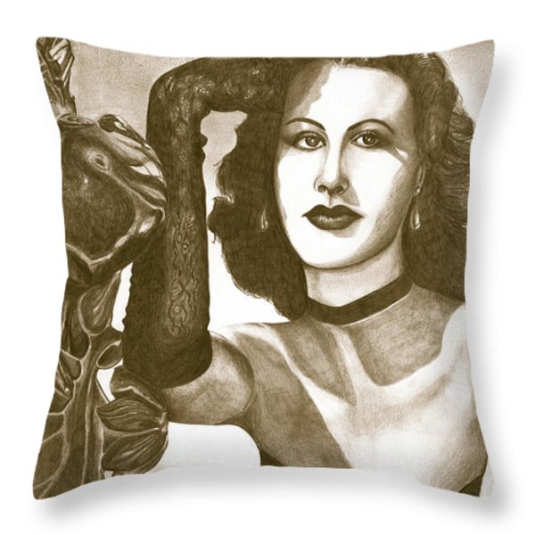 Heddy Lamar Throw Pillow by Debbie DeWitt