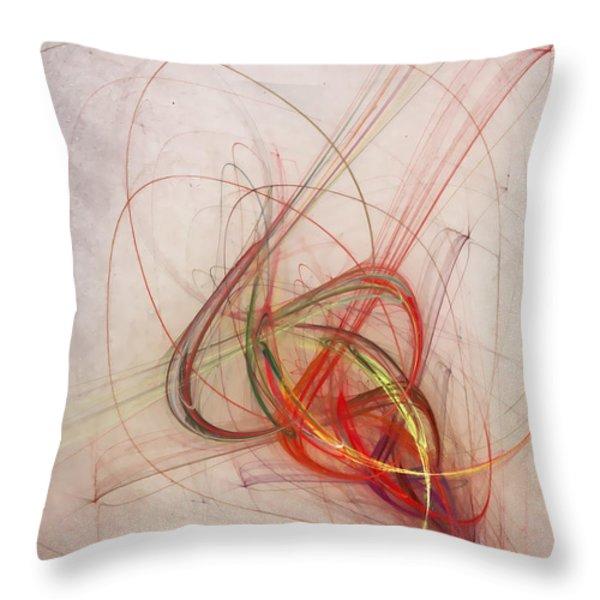 helix Throw Pillow by Scott Norris