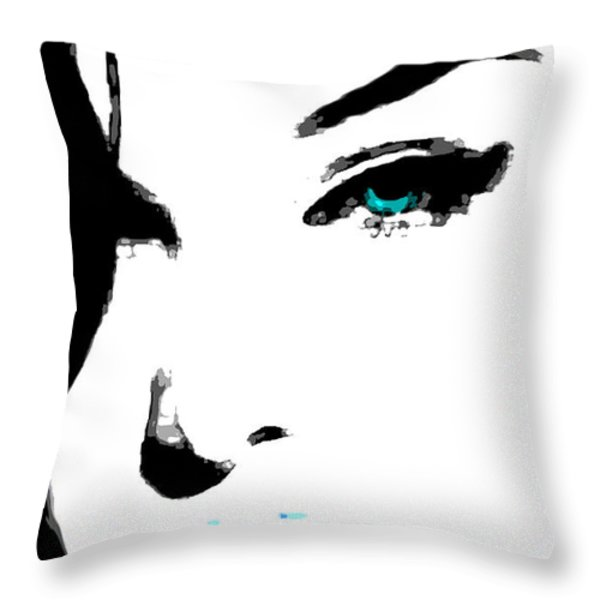 Hello Throw Pillow by Tbone Oliver