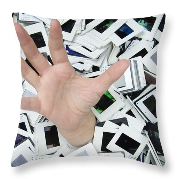 Help - too many slides Throw Pillow by Matthias Hauser