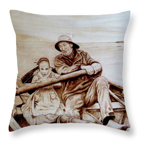 Helping Hands Throw Pillow by Jo Schwartz