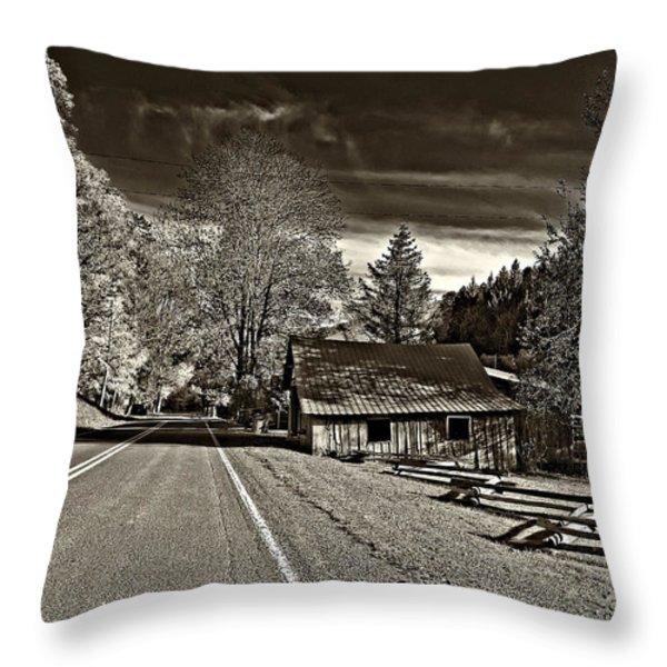 Helvetia Wv Monochrome Throw Pillow by Steve Harrington