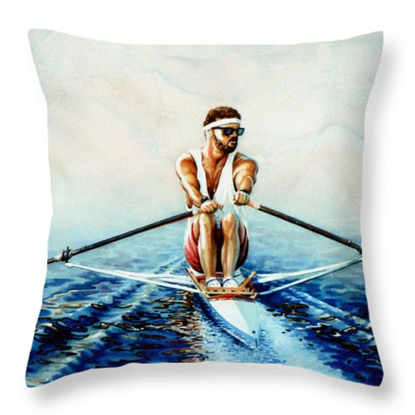 Henley On The Horizon Throw Pillow by Hanne Lore Koehler