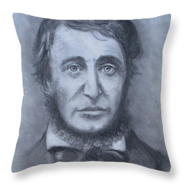 Henry David Thoreau Throw Pillow by Jack Skinner