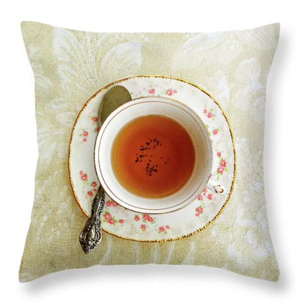 Herbal Tea Throw Pillow by Stephanie Frey