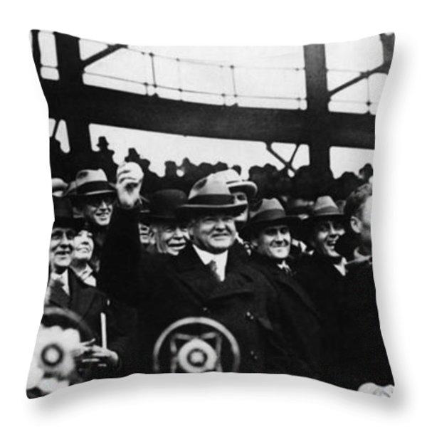 Herbert Hoover (1874-1964) Throw Pillow by Granger