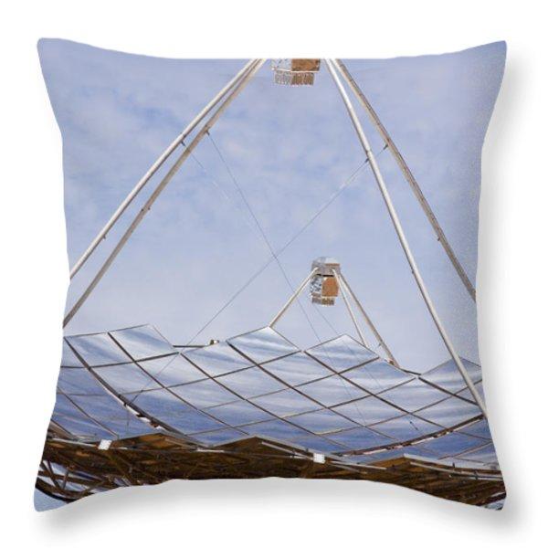 Hermansburg Solar Energy Receiver Throw Pillow by Stephen Alvarez