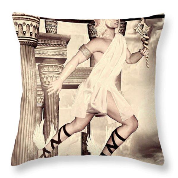Hermes Throw Pillow by Lourry Legarde