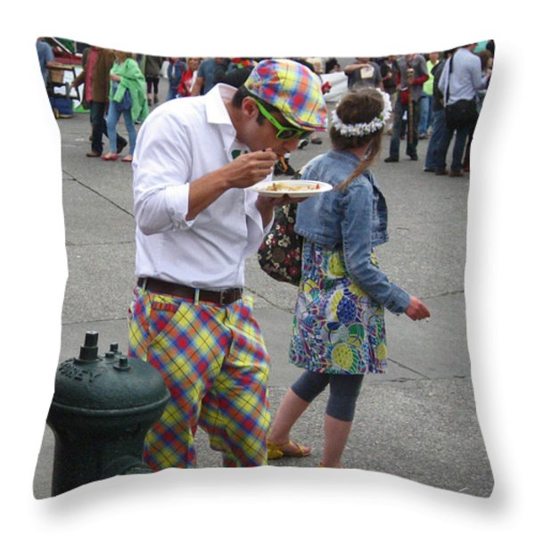 He's A Wild and Crazy Guy Throw Pillow by Kym Backland