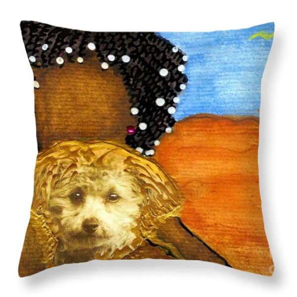 He's My Very Best Friend Throw Pillow by Angela L Walker