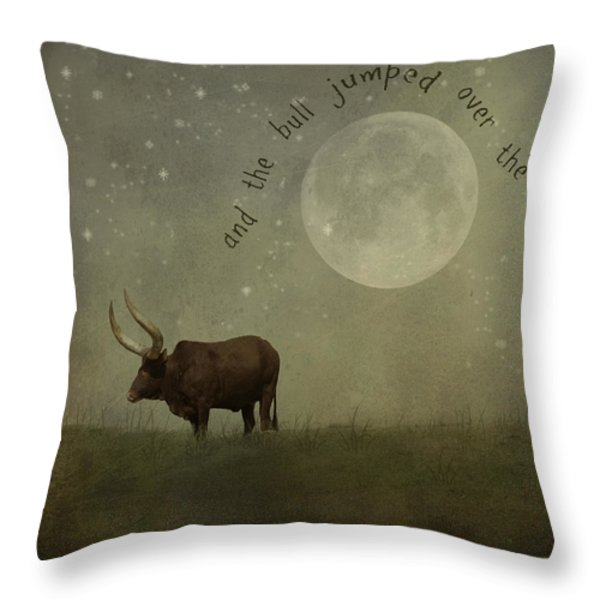 Hey Diddle Diddle  Throw Pillow by Juli Scalzi