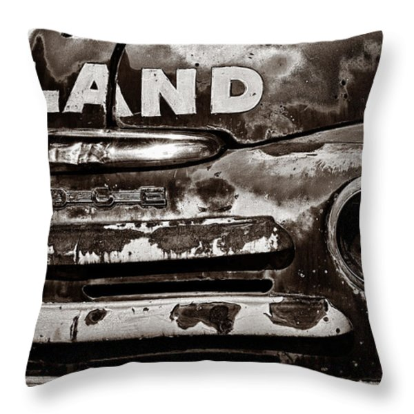 Hi-Land  -BW Throw Pillow by Christopher Holmes