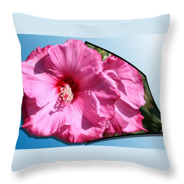 Hibiscus Throw Pillow by Shane Bechler