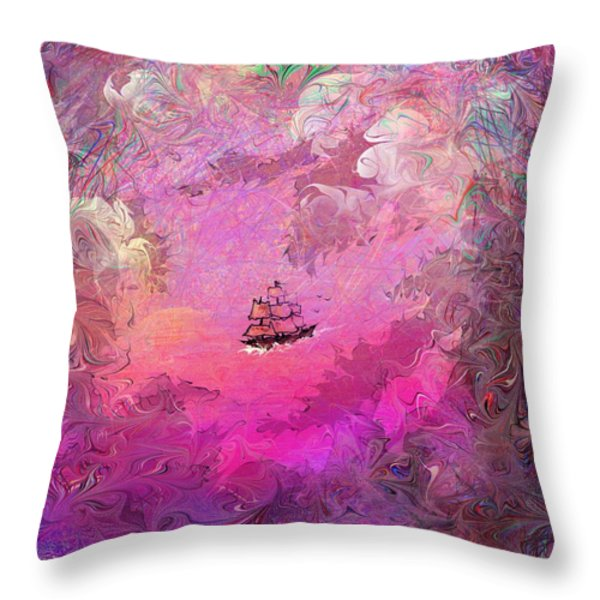 Hidden Treasure Throw Pillow by Rachel Christine Nowicki