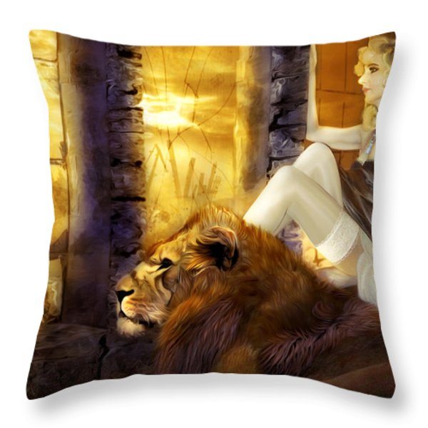 Hiding Shelter Throw Pillow by Svetlana Sewell