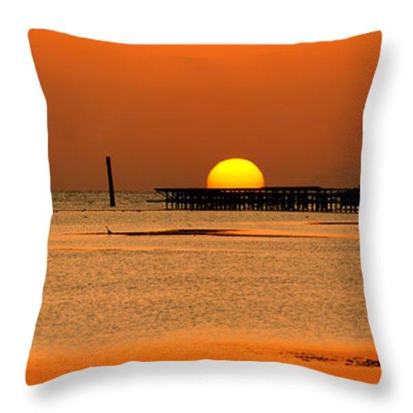 Hiding Sun Throw Pillow by Sun Travels