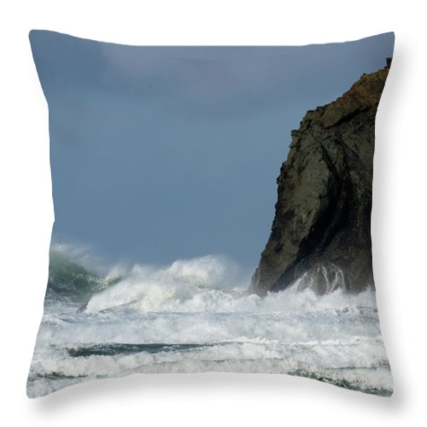 High Surf Throw Pillow by Bob Christopher
