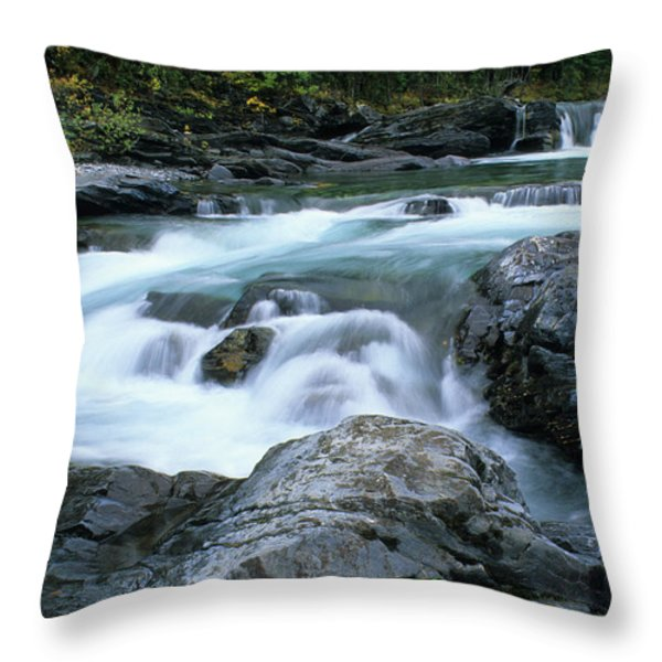 Highwood River Throw Pillow by Bob Christopher