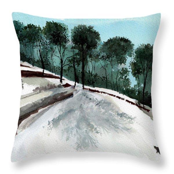 Himalaya 2 Throw Pillow by Anil Nene