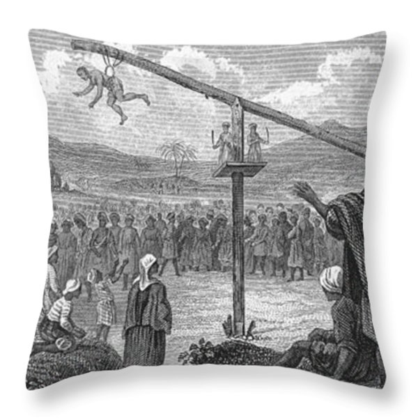 Hindu Public Penance Throw Pillow by Photo Researchers