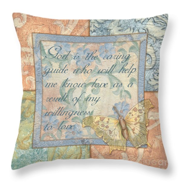 hint of spring butterfly 1 Throw Pillow by Debbie DeWitt