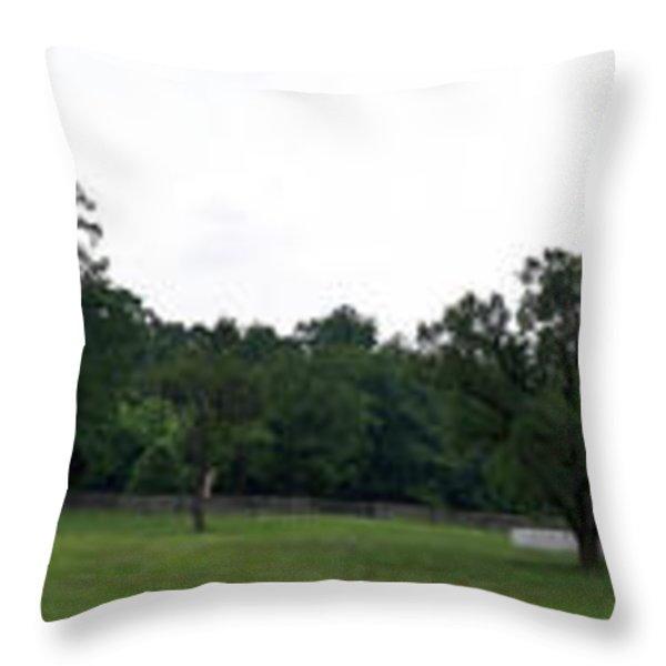 Historic Appomattox Panorama  Throw Pillow by Teresa Mucha