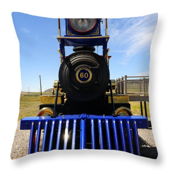 Historic Jupiter Steam Locomotive Throw Pillow by Gary Whitton