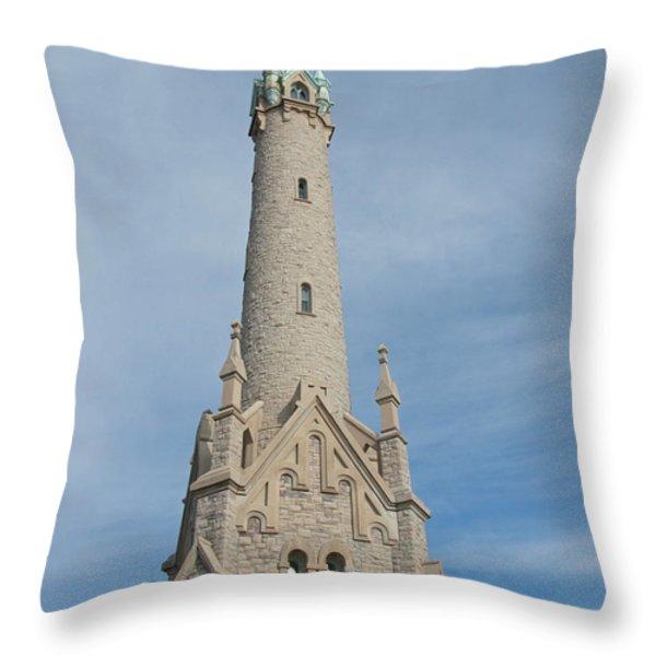 Historic Milwaukee Water Tower Throw Pillow by Ann Horn