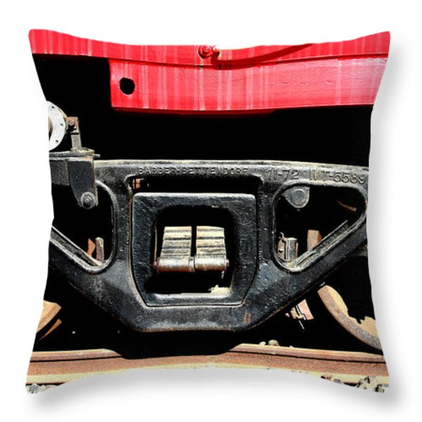 Historic Niles District in California Near Fremont . Western Pacific Caboose Train . 7D10625 Throw Pillow by Wingsdomain Art and Photography