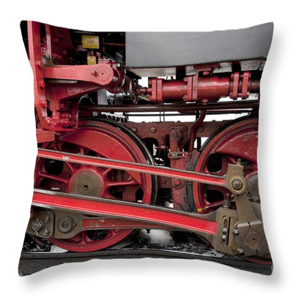 Historical Steam Train Throw Pillow by Heiko Koehrer-Wagner