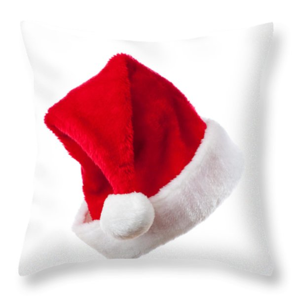 Ho Ho Ho - Santa Hat Throw Pillow by Amanda And Christopher Elwell